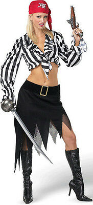 Cabin Girl Cutie Sexy Ladies Pirate Adult Costume Medium 10-12