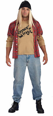 Grunge Guy 90's Rocker Rock Star Fancy Dress Up Halloween Adult Costume Jay - 90's Grunge Halloween Costume