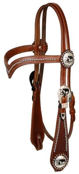 BLACK Western Leather Bridle /& Reins Set w// Silver Engraved Conchos NEW TACK!!
