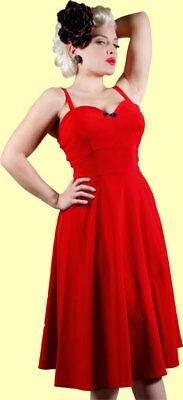 Stop Staring! Sexy & Classic Vintage Inspired Red Swing Dress. Pinup, 50's  New!