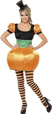 Ladies Harvest Pumpkin Halloween Thanksgiving Fancy Dress Costume Outfit UK 8-18