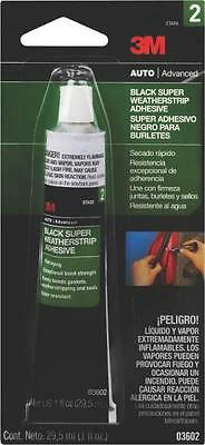 3m Bondo 03602 1oz Tube Black Super Weatherstrip Gasket Adhesive Glue 7114887