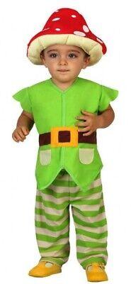 Baby Jungen Fliegenpilz Pilz Gartenzwerg Kostüm
