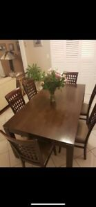 KITCHEN DINNING TABLE SET! 7pieces