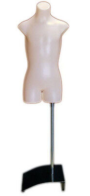 Mn-362 Fleshtone Plastic Children Armless Torso Dress Form W Stand Sizes 12-14