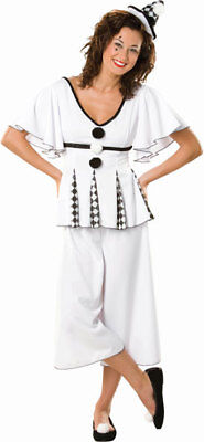Gigi The Pierrot Adult Womens Halloween Costume Harlequin Clown Jester Mime XS