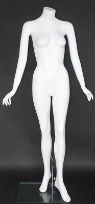 5 Ft 5 In H Female Headless Mannequin Matte White New Style Mannequin Stw102wt