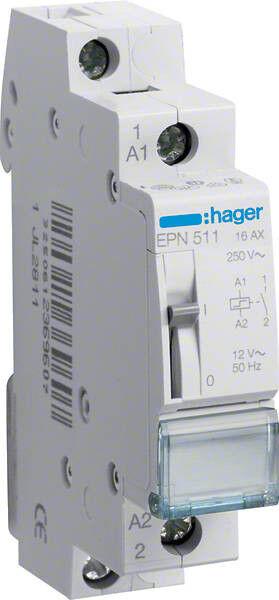 Hager EPN511 Fernschalter 1Schließer 12V AC 16A