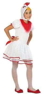 Mädchen Jungen Weiß Huhn Nutztier Vogel Weihnachten Kostüm Kleid Outfit (Junge Vogel Kostüm)