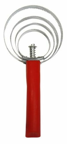 Red Stainless steel round Curry Comb