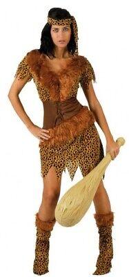 Damen Sexy 4Piece Höhlenmädchen Höhlenfrau Höhlenmensch Kostüm Outfit UK - Sexy Höhle Frau Kostüm