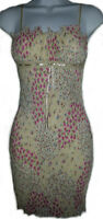 NEW - Pretty Floral Fitted Stretch Krinkle Dress - XS