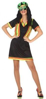 Damen Jamaikanischer Rasta aus Aller Welt Karneval Kostüm Kleid Outfit 8-18