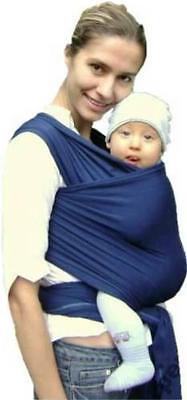 Tragetuch Babytragetuch Babytrage elastisch inkl. Bindeanleitung auf CD marine