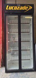 Lucozade standing fridge