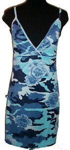 Blue Camouflage Floral Stretch Summer Dress - NEW - Large Gatineau Ottawa / Gatineau Area image 1