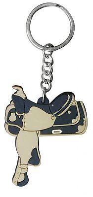 WESTERN HORSE SADDLE RUBBER KEY RING KEY CHAIN - Horse Novelties