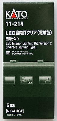 Kato 11-214 LED Interior Lighting Kit Indirect Lighting Ver. 2 6 pcs. (N Scale)