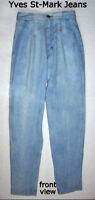 Vintage jeans,Yves St-Marc, 27, light blue, new with lable/tag