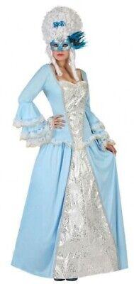 Ladies Blue Masquerade Renaissance Georgian Fancy Dress Costume Outfit UK - Masquerade Dress Kostüm
