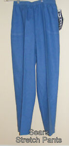 Sears, women's pants, stretch, light blue, size 16, new
