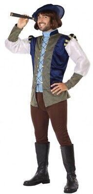 Herren Mittelalterlich Explorer Pied Piper Karneval Kostüm Verkleidung Outfit