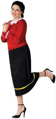 ADULT POPEYE CARTOON OLIVE OYL COSTUME DRESS XXL FW102735 (Olive Popeye Costume)