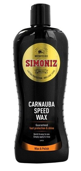 SIMONIZ WASH & WAX CARNAUBA SPEED WAX POLISH BODYWORK SHAMPOO CLEANER CAR 500ml