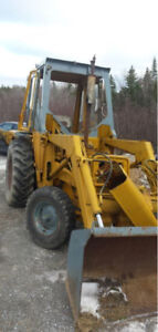 Need parts for a international rubber tire backhoe.