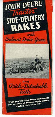 1940 John Deere Tractor Side Rakes Brochure
