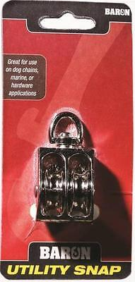 New Baron C-0178zd-1 12 1 12 Double Sheave Swivel Eye Rope Pulley 6759971