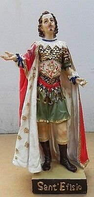 San Efisio St.Ephesius Di Cagliari Sardinia, 20 cm Polyresin Model, New