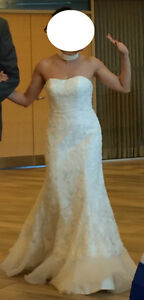 Gorgeous white lace wedding gown for petite brides - Size 0P Gatineau Ottawa / Gatineau Area image 3