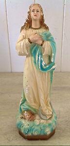Antiquité. Collection. Art religieux. Magnifique plâtre de Marie