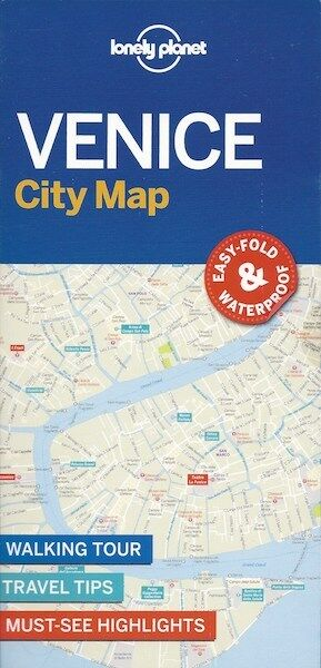 Lonely Planet Venice City Map (Italy) *FREE SHIPPING - NEW*