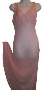 SILK Long Chemise Nightgown - Pink - NEW