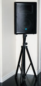 2X Yorkville YX12 Loudspeakers With Stands