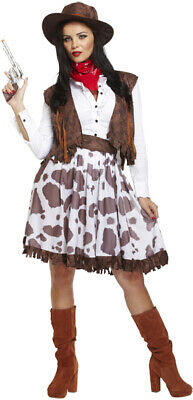 Adult Female Cowgirl Fancy Dress Dressing Up Outfit Costume Hen Do NEW (Cowgirl Dressing Up Outfits)