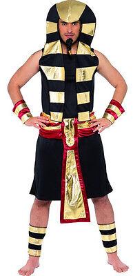 Mens Egyptian Pharaoh Costume Pharoh King Tut Deluxe Outfit Pharoah Egypt Adult (Pharaohs Costume)