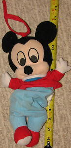 Plush baby Mickey Mouse Musical Pull String Toy