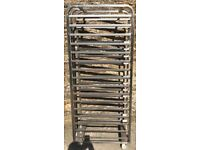 bakers portable tray trolley