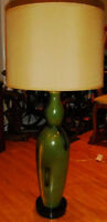 Hand Painted table lamp from Brazil