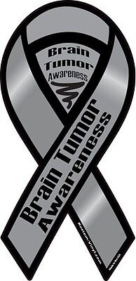 4  10  Brain Tumor Awareness Car Ribbon Magnet Find A Cure Support