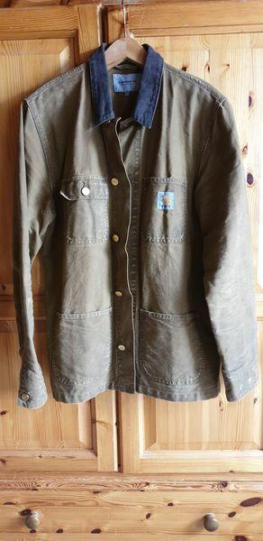 CARHARTT Michigan Chore Coat braun Gr L gewachst/geschliffen Worker Western Duck