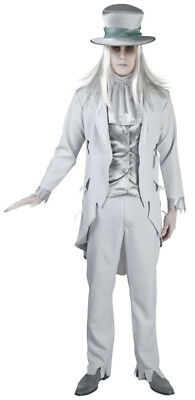 weißer Geist Bräutigam Vampir Zombie Kostüm Halloween 5 teilig