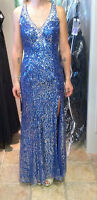 Royal Blue Sequins Evening/Prom Gown size 4 (was $425)