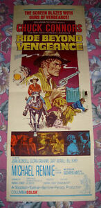 1965 RIDE BEYOND VENGEANCE WESTERN COWBOY OUTLAW MOVIE POSTER