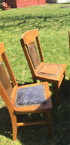 Solid oak chairs.    - fun project