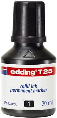Edding Nachfülltusche Nachfülltinte T25 30ml schwarz für Marker und Stempel