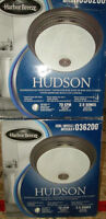 2 - NEW HARBOR BREEZE  BATH ROOM VENT FAN WITH LIGHT